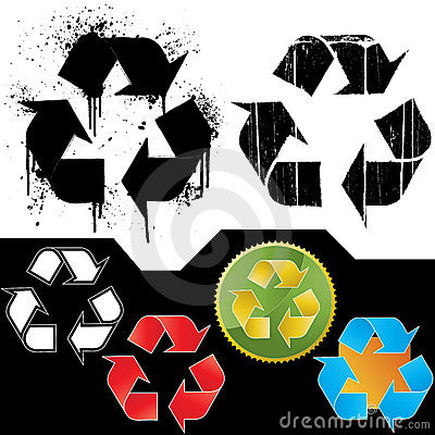 Set of ecology recycling symbols