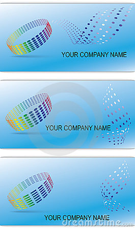 Set of editable business cards