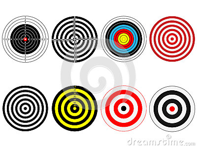 Set of eight vector targets