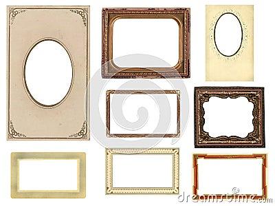 Set of eight vintage photo frames