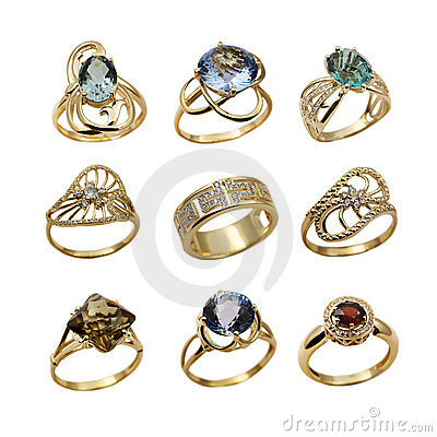 Set of elegant  jewelry rings