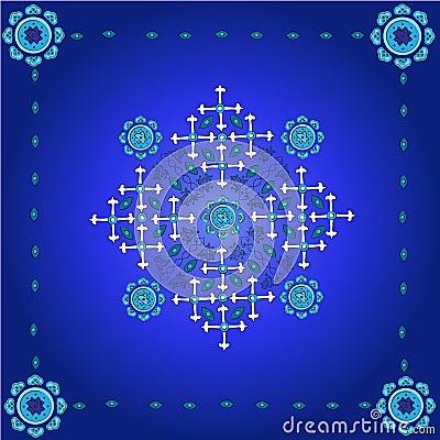 Set of elements for design on blue