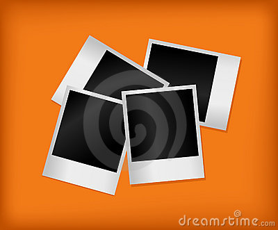 Set of empty photos. Vector