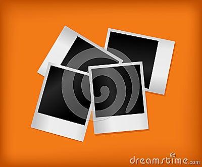 Set of empty photos. Vector