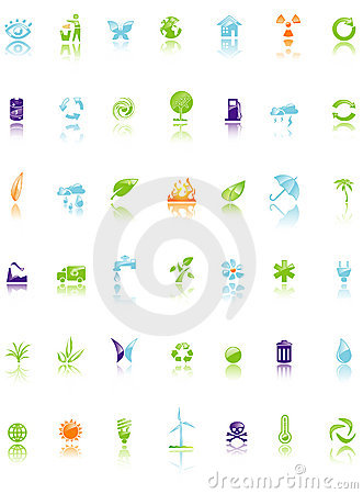 Set of environment icon
