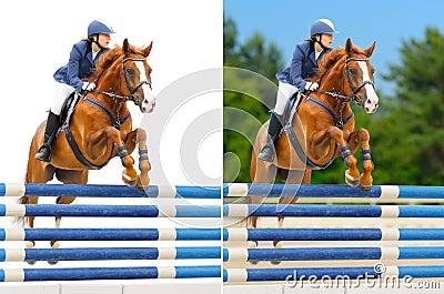 Set - equestrian sport: show jumping