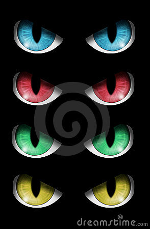 Set of evil eyes