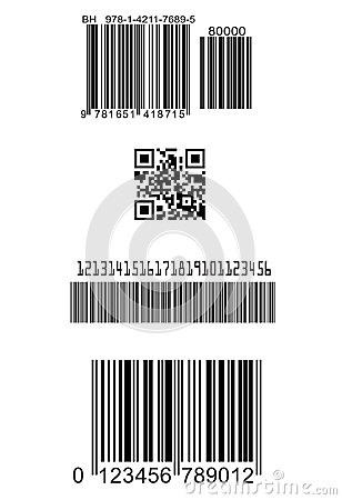 Set of fake barcodes