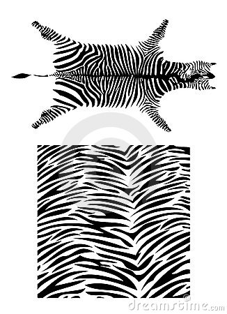 Set of fantastic zebra pattern