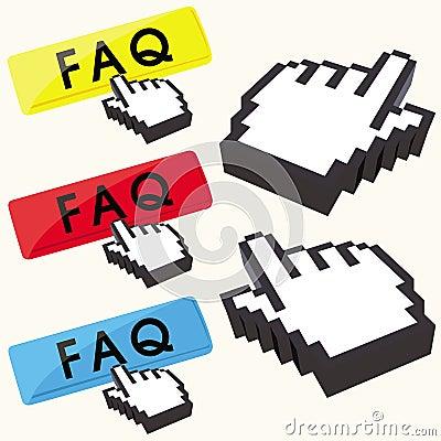 Set of FAQ buttons