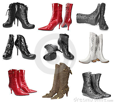 Set of female boots