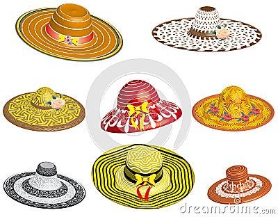 Set of female hats
