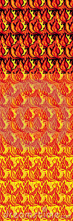 Set of fiery seamless structures