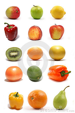 A set of fifteen healthy and tasty fruits