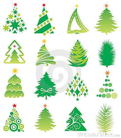 Set Of Firs. Royalty Free Stock Images - Image: 11325549