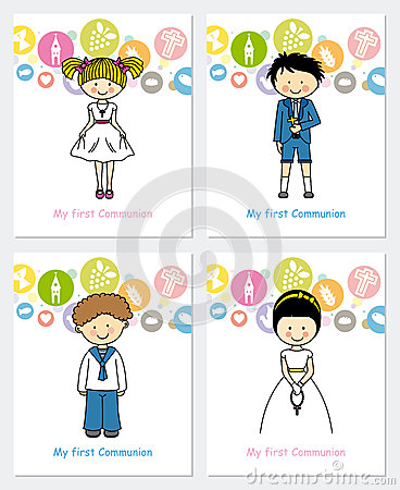 Free Set First Communion Stock Image - 40036541