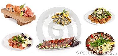 Set of fish dish