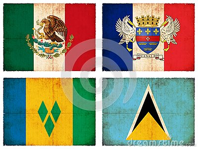 Set of flags from Central America #1