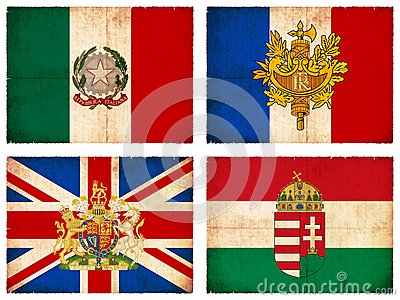 Set of flags from Europe #1