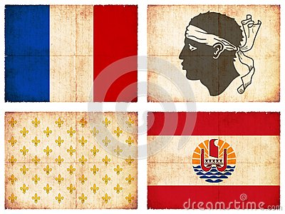 Set of flags from France #1