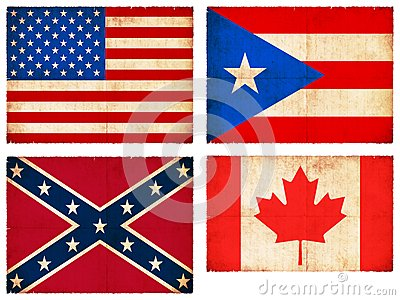 Set of flags from North America #1
