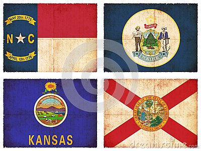 Set of flags from North America #7
