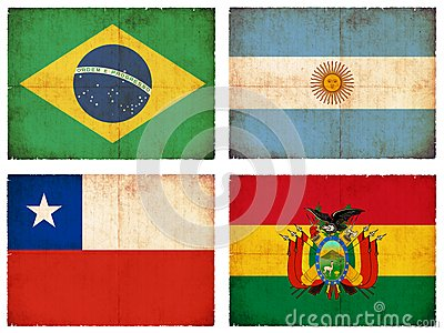 Set of flags from South America #1