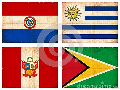 Set of flags from South America #2