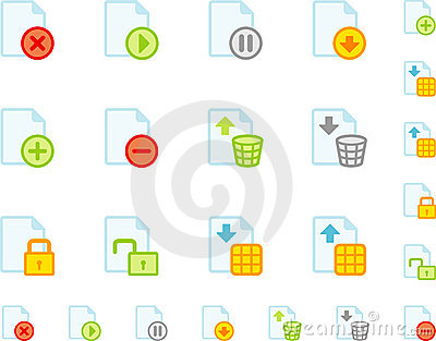Set of flat document icons
