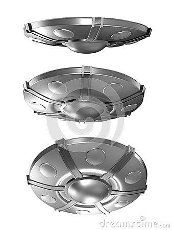 Set of flying saucer