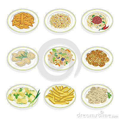 Set of food