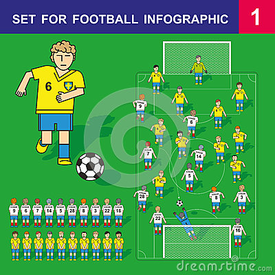 Infographic Ideas infographic soccer : Football And Soccer Infographic Set Stock Vector - Image: 41540272