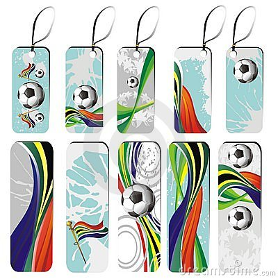 Set of football tags
