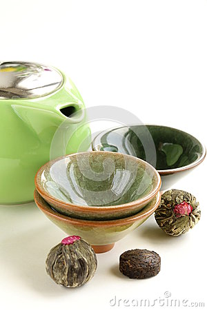 Free Set For A Traditional Tea Drinking Royalty Free Stock Photography - 34870407