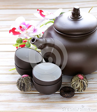 Free Set For A Traditional Tea Drinking Stock Photography - 39109582