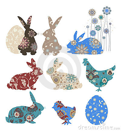 Free Set For Easter. Stock Photography - 8741782