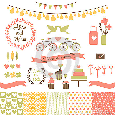 Free Set For Wedding Design. Save The Date. Stock Photos - 41226863