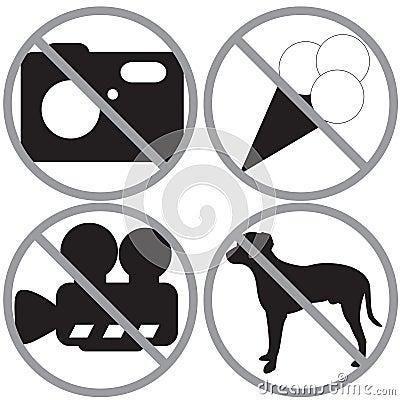 Set of forbidden signs