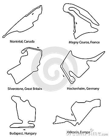 Set of Formula 1 circuits pt.2