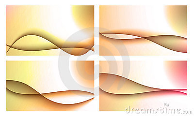 Set of four backgrounds