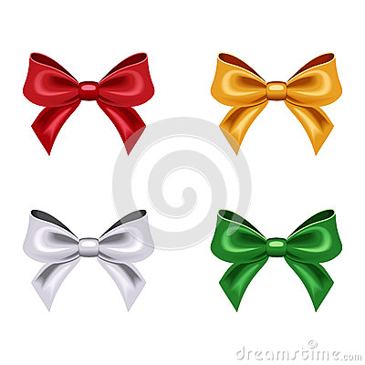 Set of four bows.