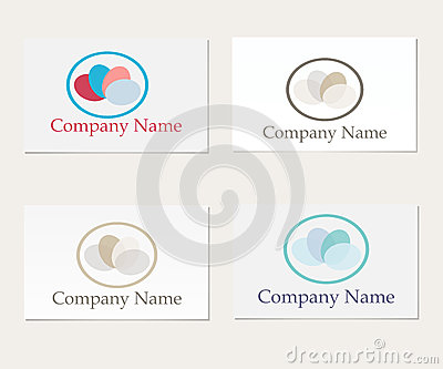 Set of four company logo