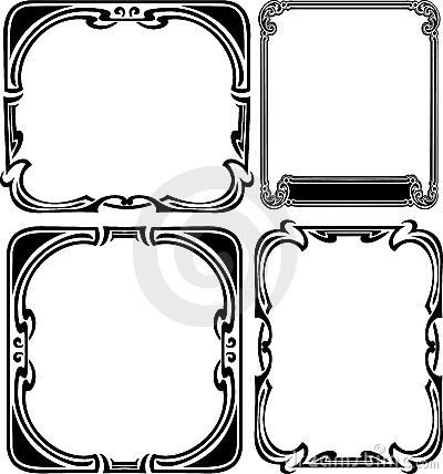 Set Of Four Elegance Baroque  Frames