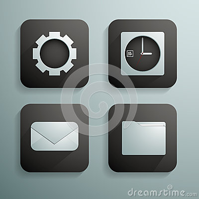 A set of four icons for websites and programs in b