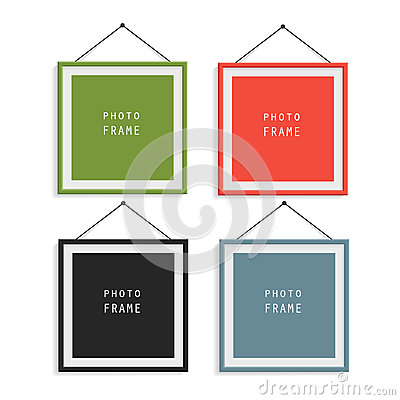 wood 9 colored photo frames stock vector image 51271623