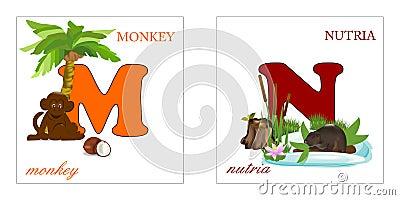 Set för alfabetbokstäver M n