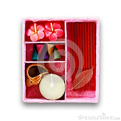 Set of fragrant candle