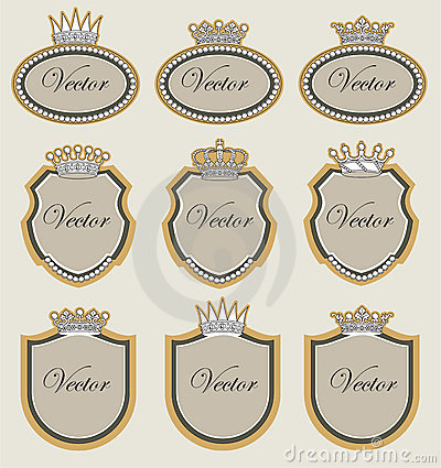 Set  frame with crowns