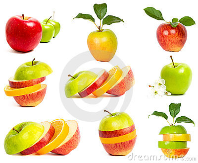 A set of fresh apples