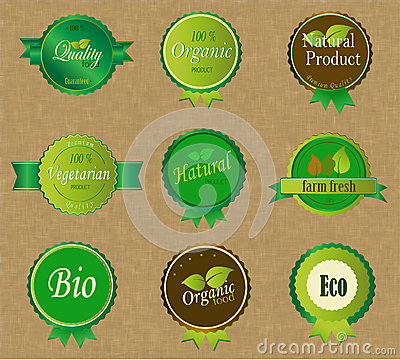 Set of Fresh Organic Labels